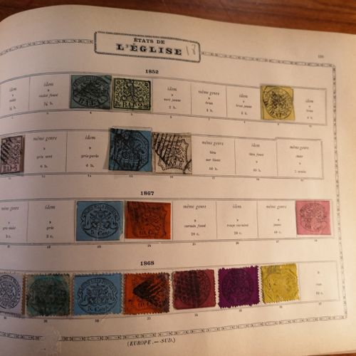 TOUS PAYS, Emissions 1840/1900 MAURY album containing mint and cancelled stamps,…