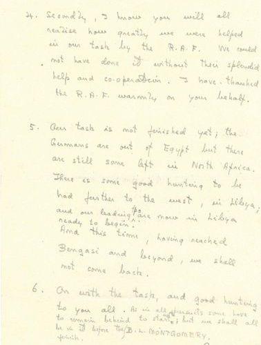 MONTGOMERY Bernard Law (1887 1976) Field Marshal britannique. MANUSCRIT autograp…