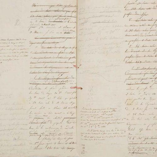 NAPOLÉON Ier (1769 1821) Empereur. MANUSCRITS dictés au général BERTRAND, avec C…