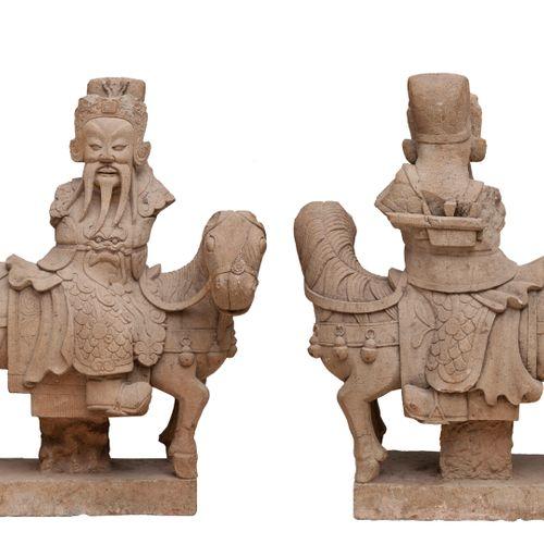 ART CHINE en THAILANDE, XVIIIème XIXème siècles Carved sandstone subject represe…