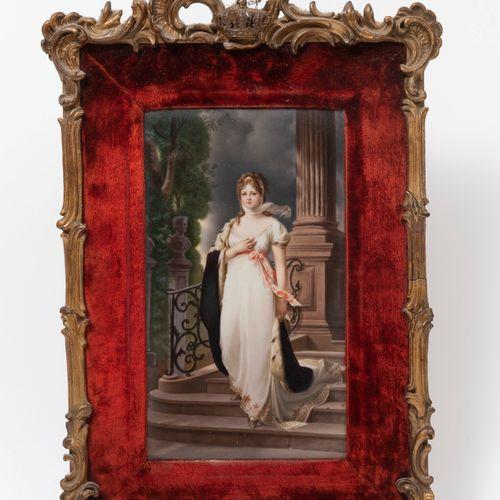 Ecole de la fin du XIXème ou du début du XXème siècle Young woman with ermine co…