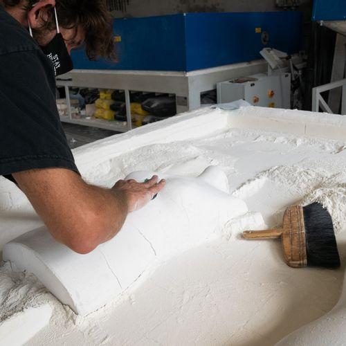 Balmain Prototype unique de bustier en verre, dessiné par Olivier Rousteing et r…