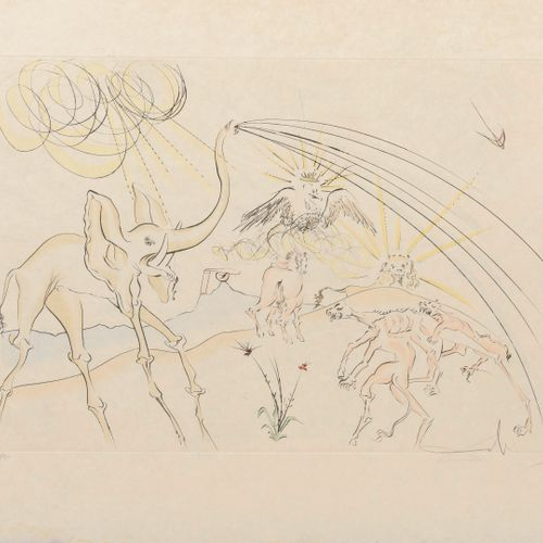 Salvador DALI (1904 1989) The Animals Sick of the Plague, 1974.  Plate from the …