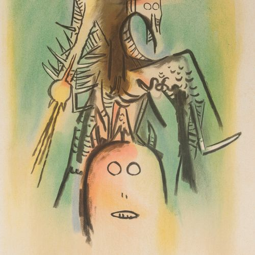 Wifredo LAM (1902 1982) Multiplied members of the Loa, plate from the suite illu…