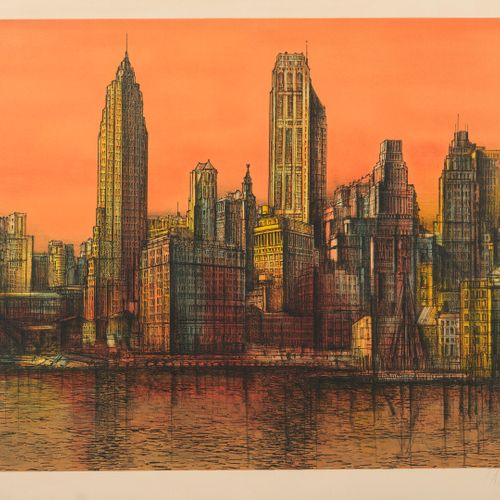 Jean CARZOU (1907 2000) New York, 1975.  Lithograph in colors on paper.  Signed …