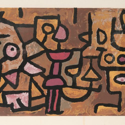 D'après Paul KLEE Divine music.  Serigraphy in colors on paper.  Signed in the p…