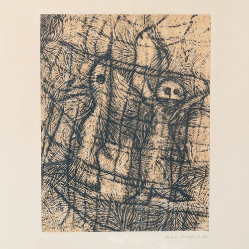 D'après Max ERNST Untitled.  Lithograph in colors on paper.  Signed lower left. …