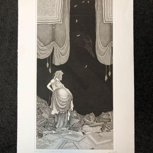 Michel ESTEBE (1954) Lot of five etchings on paper:   Interior Landscape, 1981 […