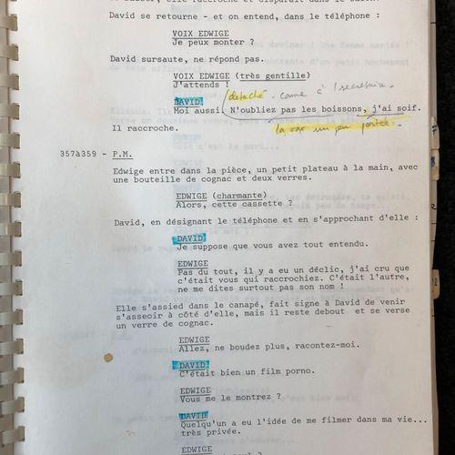 DEVILLE, Michel Péril en la demeure, 1985.  Original typescript copy of the film…