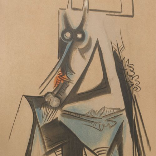 Wifredo LAM (1902 1982) Les vaches sont maigres en Haïti, plate from the suite i…