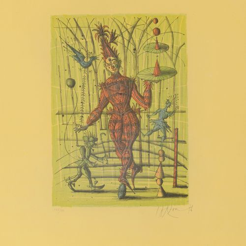 Jean CARZOU (1907 2000) Untitled, 1976.  Lithograph in colors on paper.  Signed …