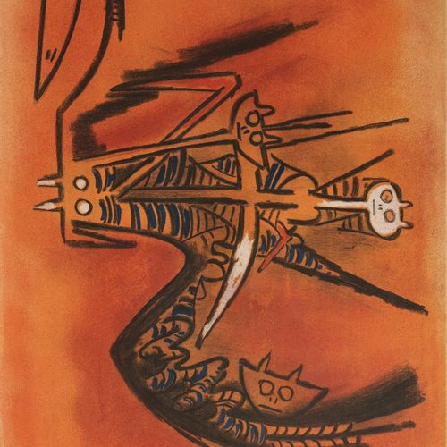 Wifredo LAM (1902 1982) Pleni Luna, 1974.  Colour lithographs on paper.  Artist'…