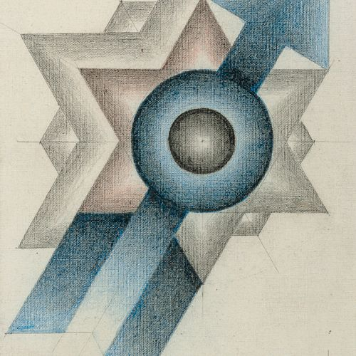 Marcel LEMPEREUR HAUT (1898 1986) The Sagittarius.  Graphite and ink on canvas. …