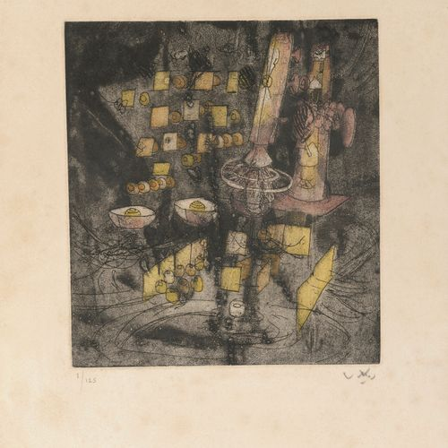 ROBERTO MATTA (1911 2002) Untitled.  Etching on paper.  Signed lower right and n…