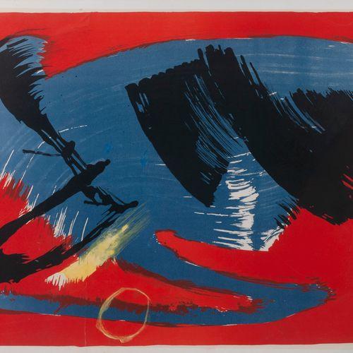 Gerard SCHNEIDER (1896 1986) Untitled, 1970.  Lithograph enhanced on paper mount…