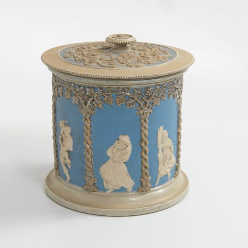 ALLEMAGNE, fin du XIXème ou début du XXème siècle Deux pots à biscuits ou à taba…
