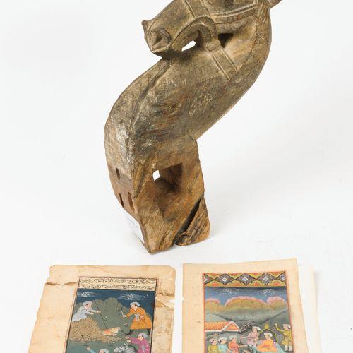 INDE, XXème siècle La chasse au tigre Doléances devant un Prince.  Deux miniatur…