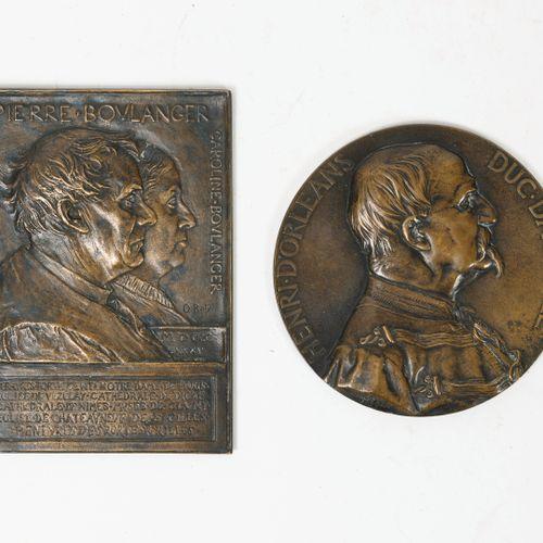 Lot comprenant :   CHAPLAIN Jules Clément (1839 1809),  une médaille en bronze, …