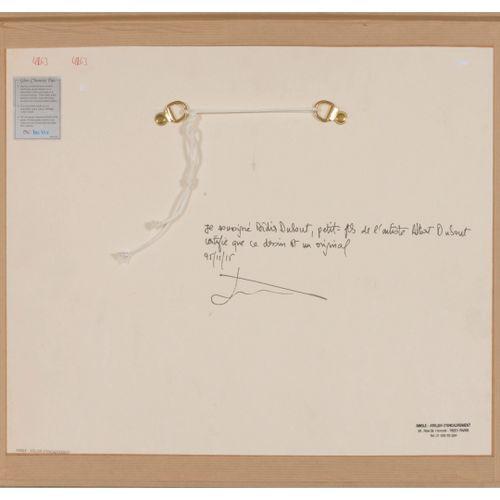 Albert DUBOUT (1905 1976) Chasse au lapin.  Encre, lavis d'encre, crayon de coul…