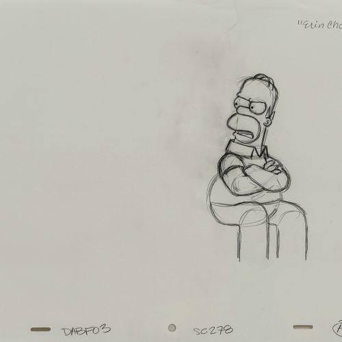 "Studio Matt GROENING ""Erin Choco"". Homer. Les Simpson.  Mine de plomb sur papier…"