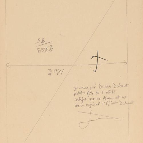 Albert DUBOUT (1905 1976) Cosmos Lines.  Mine de plomb et encre sur papier.  Non…