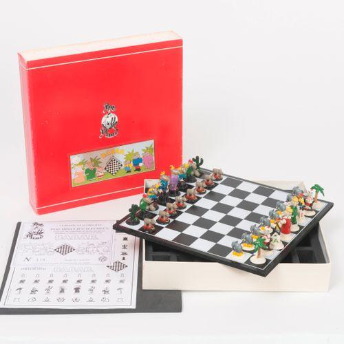 Pixi, Paris Babar, mini jeu d'échecs, 1997.  Tirage limité à 250 exemplaires.  P…