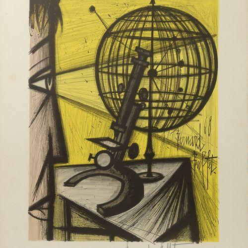 Bernard BUFFET (1928 1999) Le Microscope, 1969.  (Sorlier, 316).  Lithographie e…