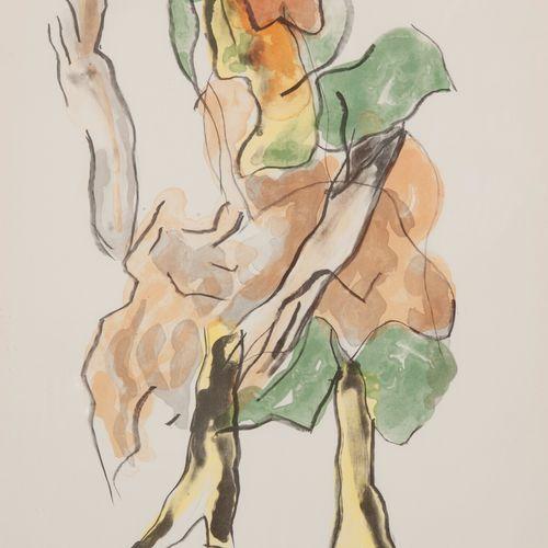 Jan SIERHUIS (1928) Sans titre, 1990.  Lithographie en couleurs.  Signée et daté…