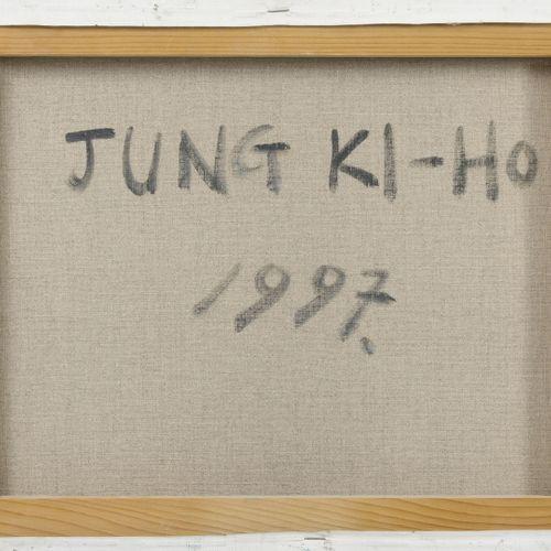 Jung KI HO (XXème XXIème siècle) Le port, 1997.  Acrylique sur toile.  Signée et…