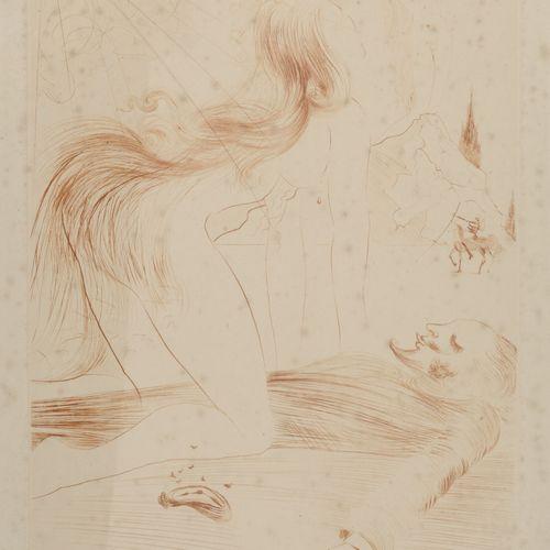 Salvador DALI (1904 1989) Sans titre.  Eau forte sur papier.  Signé et cachet à …