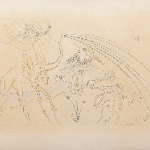 Salvador DALI (1904 1989) Les Animaux malades de la Peste, 1974.  Planche tirée …