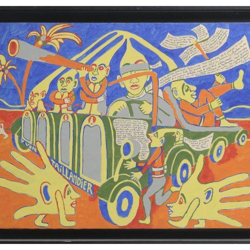 Yvon Taillandier (1926 2018) Sans titre.  Gouache sur papier marouflé sur toile.…