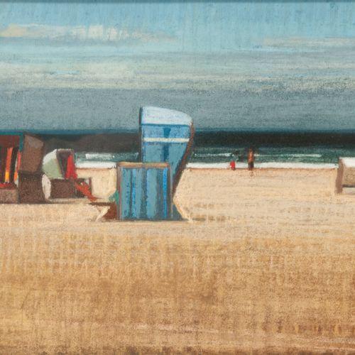 Behi SHAMIRI (1955) Scène de plage, 1996.  Pastel sur papier.  Signé et daté en …