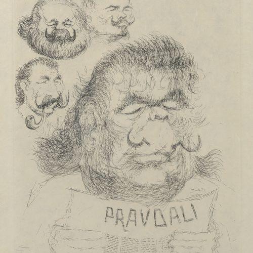 TIM (1919 2002) Légitimité, 1971.  PravDali.  Eau forte sur papier.  Signé en ba…