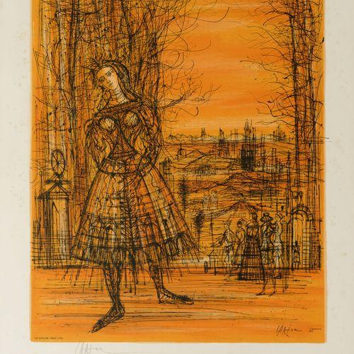 Jean CARZOU (1907 2000) Gisèlle, 1966.  Lithographie en couleur sur papier.  Sig…