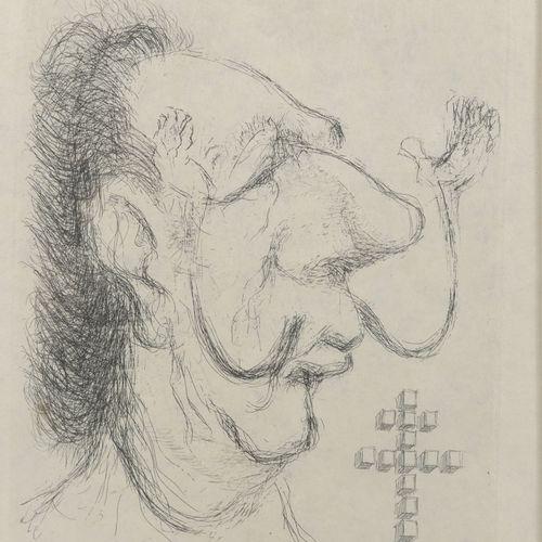 TIM (1919 2002) Légitimité, 1971.  Portrait de Dali.  Eau forte sur papier.  Sig…
