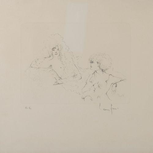 Léonor FINI (1907 1996) Etudes et personnages.  Lot de cinq pointes sèches sur p…
