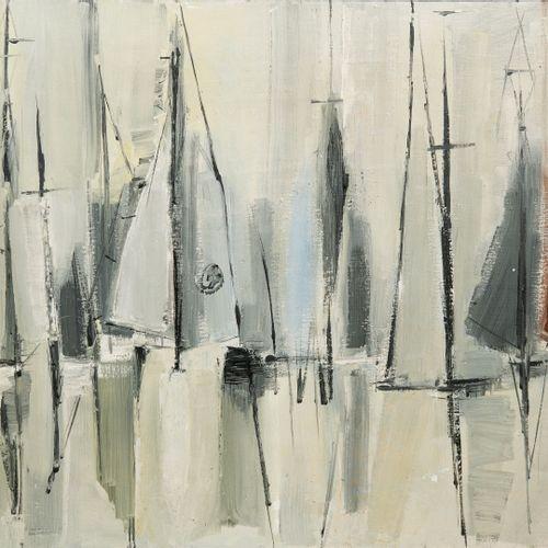 Véra BRAUN (1902 1997) Sans titre.  Huile sur toile.  Signée en bas à droite.  6…