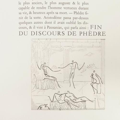 PLATON Le banquet.  Burins originaux de Roger VIEILLARD.  Editions La nouvelle é…