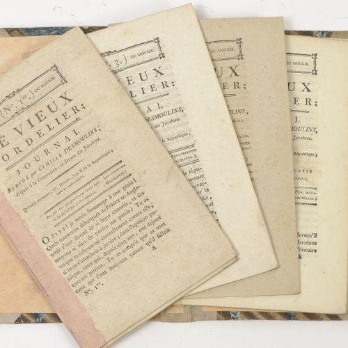 Camille DESMOULINS Journal : Le vieux cordelier.  6 numéros de 1 à 6.  An II de …
