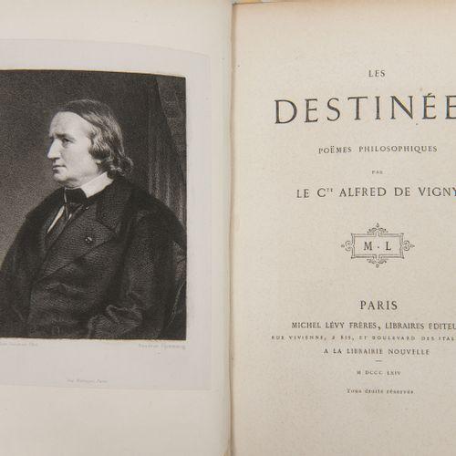 VIGNY (A. De). Les destinées. Poèmes philosophiques. Paris, Lévy, 1864, 191 pp. …