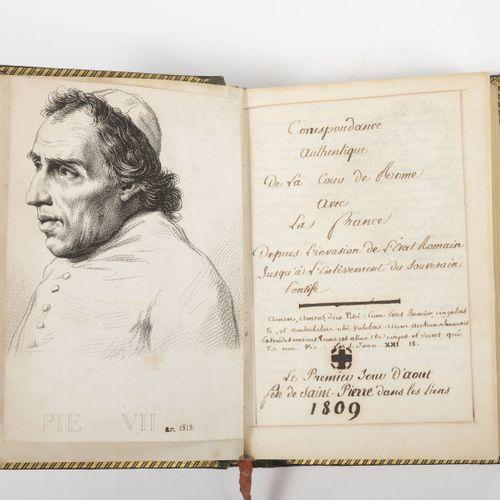 Correspondance authentique de la cour de R0me avec la France, depuis l'invasion …