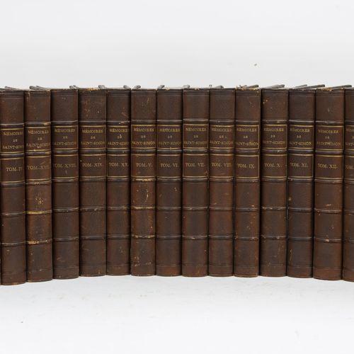 SAINT SIMON (Duc de). Mémoires complets et authentiques du duc de Saint Simon su…