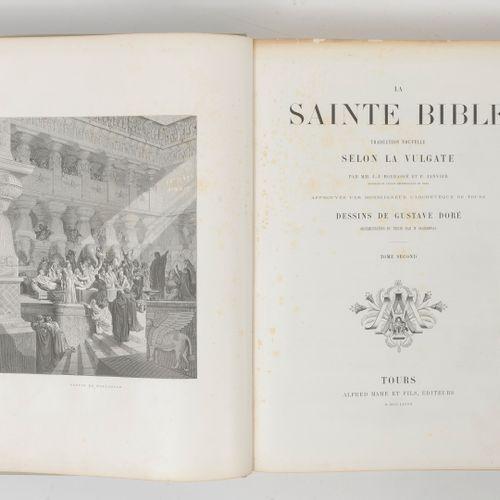 LA SAINTE BIBLE. Traduction nouvelle selon la Vulgate par MM. J. J. Bourassé et …