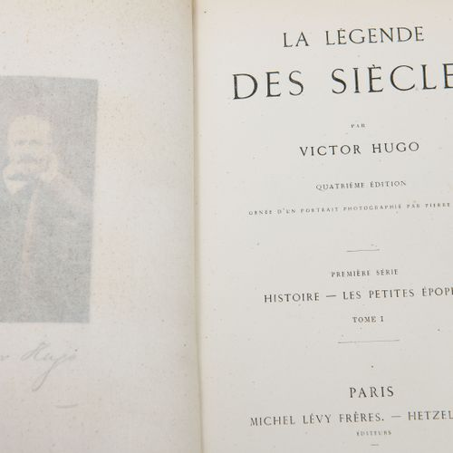HUGO (Victor) La légende des siècles.  4e édition. Orné d'un portrait photograph…
