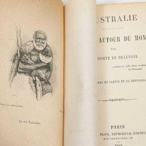 BEAUVOIR (Ludovic, Cte de) Voyages autour du monde.  Paris, Plon, 1869 1872, 3 v…