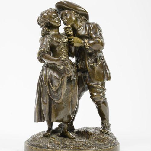 Fin du XIXème ou début du XXème siècle Le petit couple amoureux dans le goût du …