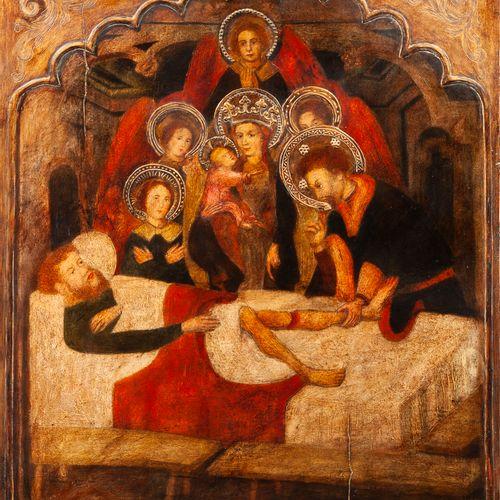 D'après Luis BOROSSA (Gérone ( ?) vers 1360 Barcelone vers 1426) Saint Hippolyte…