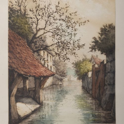 D'après J.G WALDORP ou d'après J. ANDRIESSEN & H. NUMAN Rue hollandaise et rue i…