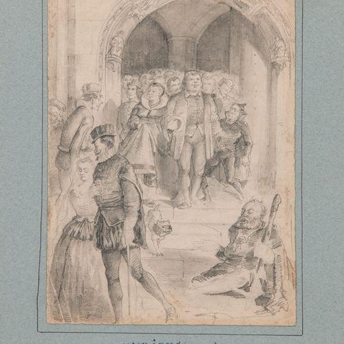 Ecole ITALIENNE de la seconde moitié du XVIIIème siècle Vieux théâtre de la Rein…